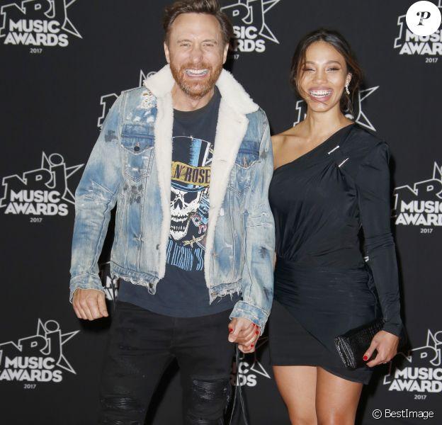 No Web - David Guetta et sa compagne Jessica Ledon - 19ème édition des NRJ Music Awards à Cannes le 4 novembre 2017. © Christophe Aubert via Bestimage