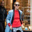 Celine Dion fait un passage à la boutique Repetto à Paris le 31 janvier 2019.