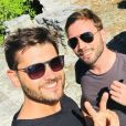 Christophe Beaugrand en vacances dans le sud avec son mari Ghislain - Instagram, 1 août 2018