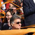 """Christian Estrosi, le maire de Nice, Laura Tenoudji Estrosi et leur fille Bianca - 135ème édtion du Carnaval de Nice le 16 février 2019. Le Carnaval de Nice """"Roi du Cinéma"""" se déroule du 16 février au 2 mars 2019. Le Carnaval de Nice est l'un des trois plus grands et plus prestigieux au Monde avec ceux de Rio et de Venise. © Bruno Bebert/Bestimage"""