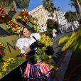 """1ère bataille de Fleurs dans le cadre de la 135ème édtion du Carnaval de Nice le 16 février 2019. Le Carnaval de Nice """"Roi du Cinéma"""" se déroulera du 16 février au 2 mars 2019. Le Carnaval de Nice est l'un des trois plus grands et plus prestigieux au Monde avec ceux de Rio et de Venise. © Bruno Bebert/Bestimage"""