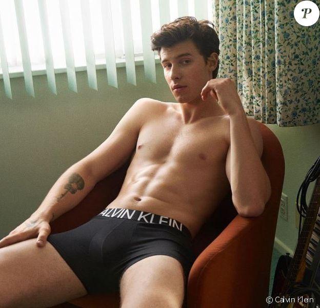 Shawn Mendes pose dans une campagne pour les boxers Calvin Klein.