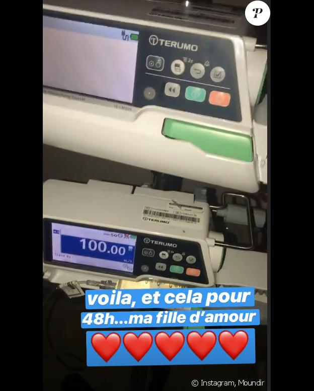Moundir à l'hôpital pour sa fille - 18 février 2019