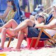 Exclusif - Lady Gaga et son compagnon Christian Carino passent de jolies vacances romantiques sous le soleil des Hamptons au nord-est de l'île de Long Island aux Etats-Unis, le 1er juillet 2018