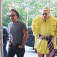 Lady Gaga et son compagnon Christian Carino à la sortie d'enregistrement Electric Lady Sound à New York, le 31 mars 2018