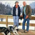 Marella et Gianni Agnelli à Saint-Moritz en 1987
