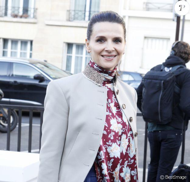 """Juliette Binoche - Arrivées au défilé de mode Prêt-à-Porter automne-hiver 2019/2020 """"Chloé"""" à Paris. Le 28 février 2019 © Veeren-CVS / Bestimage"""