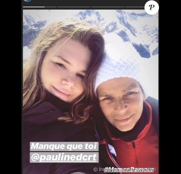 Camille Gottlieb pose avec sa maman Stéphanie de Monaco, le 3 mars 2019. Instagram.