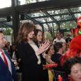 """Exclusif - Carla Bruni-Sarkozy, invitée d'honneur - Déjeuner """"Chinese Business Club"""" au Pavillon Gabriel à Paris, à l'occasion de la journée des droits des femmes, le 8 mars 2019 © Rachid Bellak / Bestimage"""