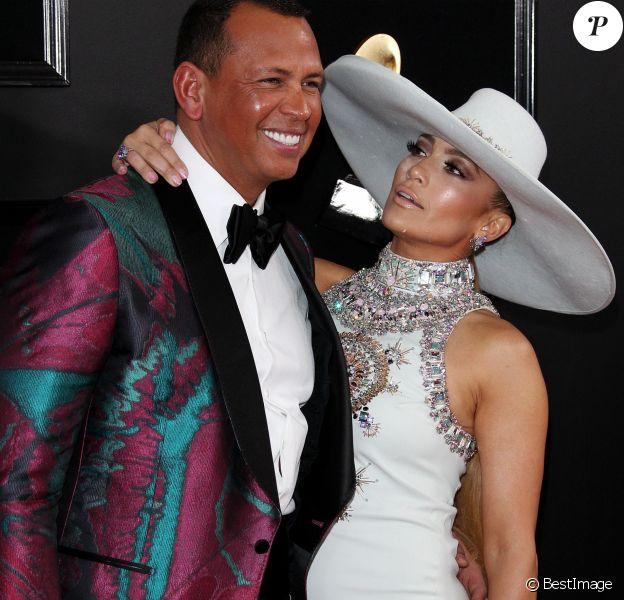 Alex Rodriguez et sa compagne Jennifer Lopez - Les célébrités arrivent à la 61ème soirée annuelle des GRAMMY Awards à Los Angeles, le 10 février 2019.