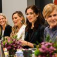 La princesse Mary de Danemark a débuté sa visite par un petit-déjeuner de travail sur l'égalité des sexes le 11 mars 2019 aux Etats-Unis à Austin, au Texas, dans le cadre d'une mission économique de trois jours axée notamment sur le développement durable, la gastronomie, la mode et le design.