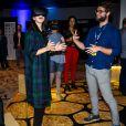La princesse Mary de Danemark s'initie à la réalité virtuelle le 11 mars 2019 à Austin au Texas lors du salon South by Southwest, dans le cadre d'une mission économique de trois jours axée notamment sur le développement durable, la gastronomie, la mode et le design.
