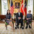 La princesse Mary de Danemark a été reçue le 11 mars 2019 par le gouverneur Greg Abbott à Austin, au Texas, dans le cadre d'une mission économique de trois jours axée notamment sur le développement durable, la gastronomie, la mode et le design.