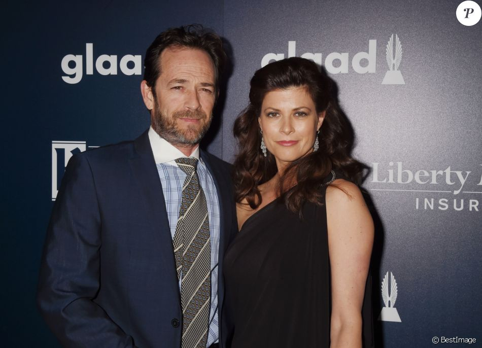 Luke Perry et Wendy Madison Bauer à la 28ème soirée annuelle GLAAD Media Awards à Los Angeles, le 2 avril 2017 © CPA/Bestimage