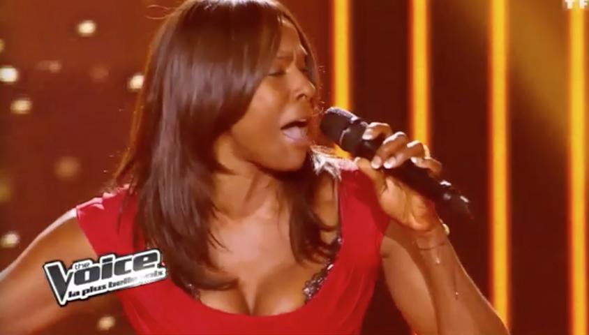 """Jessica Plésel dans """"The Voice"""" saison 1."""