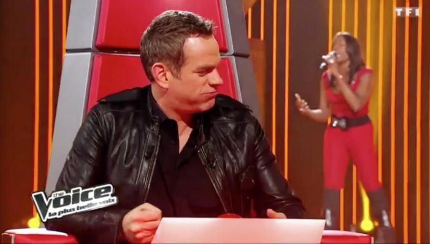 """Garou et Jessica Plésel dans """"The Voice"""" saison 1."""