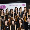 Exclusif - Anne Gravoin avec Nicolas Guiraud et les violonistes à Paris, le 13 mars 2019.