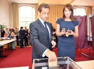 Carla Bruni et Nicolas Sarkozy ont voté... avec élégance bien sûr !