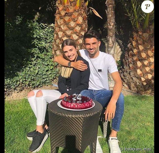 Enzo Zidane a fêté ses 24 ans avec sa compagne Karen Gonçalves. Instagram, le 24 mars 2019.