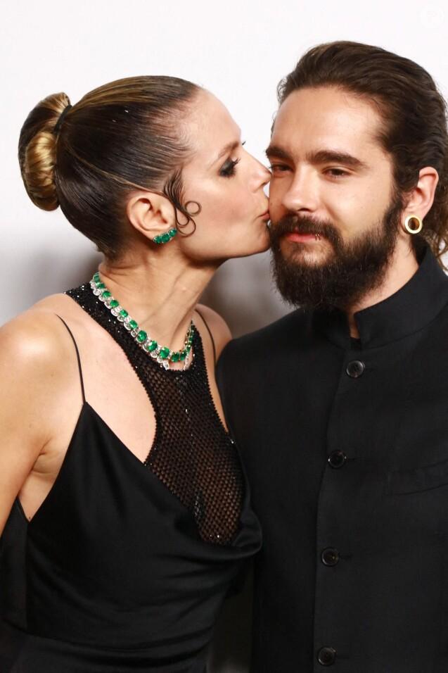 "Heidi Klum et Tom Kaulitz au 5ème ""amfAR Gala"" à l'hôtel Rosewood Tsim Sha Tsui à Hong Kong. Le 25 mars 2019"