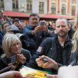 """Uma Thurman rencontre des fans, après avoir fait un passage à la 10ème édition du Festival Séries Mania à Lille pour animer une masterclass et présenter la série """"Chambers"""" le 26 mars 2019. © Stéphane Vansteenkiste / Bestimage"""
