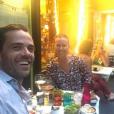 Guillaume Delorme souriant avec sa compagne Chantelle - Instagram, 23 juin 2017
