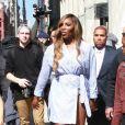 Serena Williams à la sortie des bureaux de BuzzFeed à New York le 3 avril 2019.