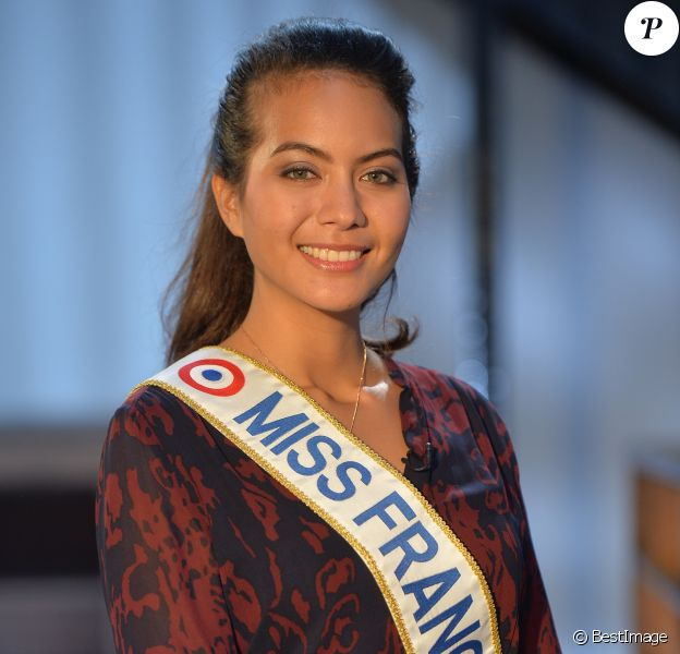 """Exclusif - Vaimalama Chaves, Miss France 2019 - Enregistrement des émissions """"Animaux Stars"""" présentées par Bernard Montiel. Le 13 mars 2019 © Veeren / Bestimage"""