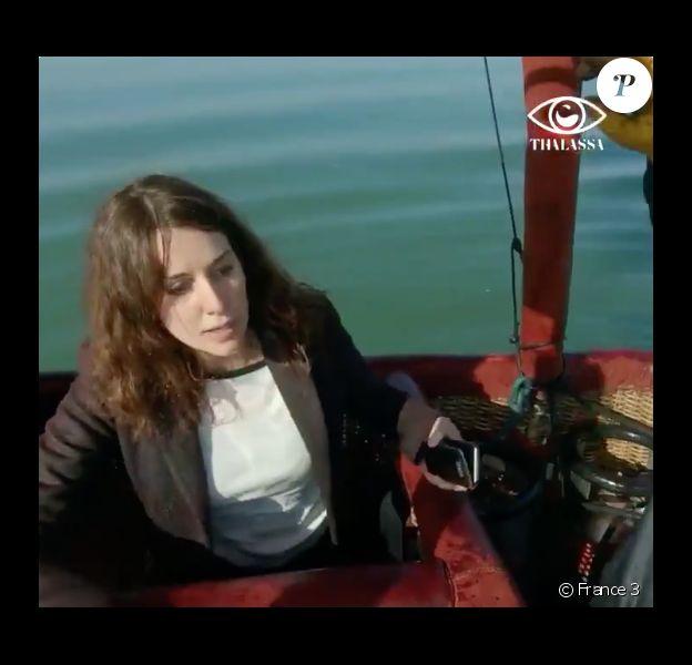 """L'accident de montgolfière de Fanny Agostini dans """"Thalassa"""" diffusé le 8 avril 2019 sur France 3."""