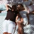 Ilona Smet et son chéri  Kamran Ahmed se prélassent lors de leurs vacances au Portugal. Le 14 août 2018.