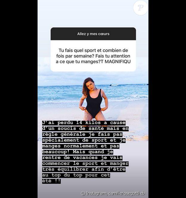 Camille Gottlieb sur Instagram, le 13 avril 2019.