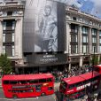 David Beckham lance sa ligne de sous-vêtements Armani, à la boutique Selfridges de Londres, le 11 juin 2009