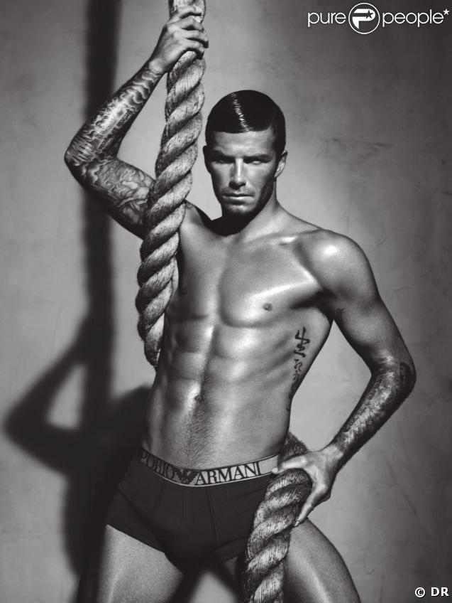 David Beckham sur la dernière campagne Emporio Armani