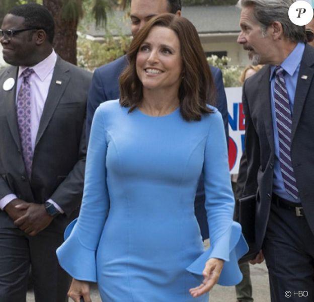 """Julia Louis-Dreyfus dans la saison 7 de """"Veep"""" acutellement sur HBO et OCS - avril 2019."""