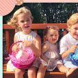 La princesse Leonore, la princesse Adrienne et le prince Nicolas de Suède, les enfants de la princesse Madeleine de Suède et son mari Christopher O'Neill, photographiés par leur mère en Floride au moment de Pâques 2019. © Instagram Madeleine de Suède, 21 avril 2019.