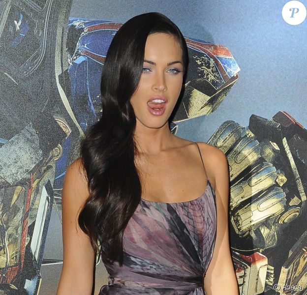 "Megan Fox, lors de la promotion de ""Transformers 2"", de Michael Bay, à l'Hôtel Georges V, à Paris, le 12 juin 2009 !"