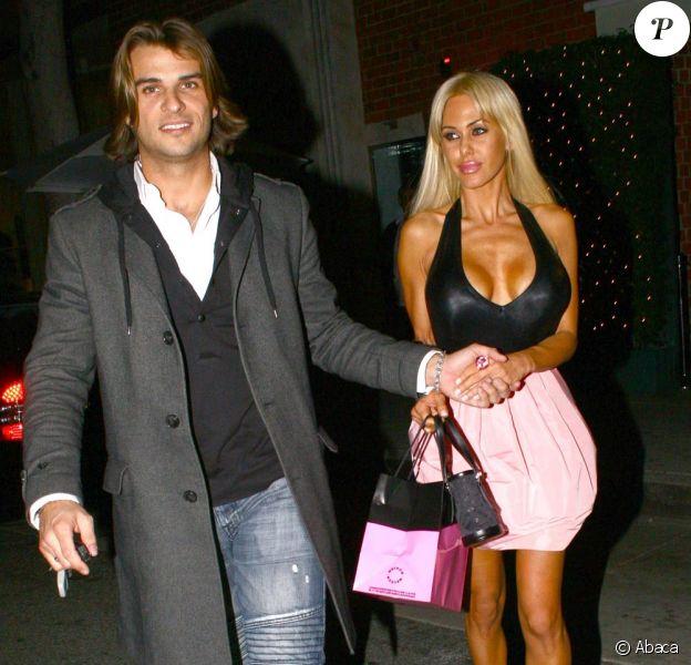 Romain Chavent en janvier 2009 à Los Angeles avec son épouse Shauna Sand. Ils sont en instance de divorce.