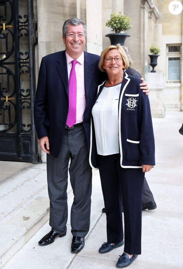 Patrick et Isabelle Balkany à Neuilly-sur-Seine le 16 avril 2013.