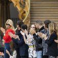 """Claudia Schiffer, Gaspard Ulliel, Guillaume Gouix et Lily-Rose Depp - Les célébrités au photocall du défilé """"Chanel Cruise Collection 2020"""" au Grand Palais. Paris, le 3 mai 2019. © Olivier Borde/Bestimage"""
