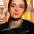 "Camille lors de la grande finale de ""Top Chef 10"" (M6) mercredi 8 mai 2019."