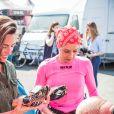 Exclusif - Alessandra Sublet, qui a récemment passé son permis Moto, a assisté pour la première fois à la 42e édition des 24 Heures Motos ce week-end. Après être venue de Paris en moto, elle a pu découvrir les coulisses de cet événement. Son programme a été intense : baptême de piste sur le circuit Bugatti, parade, rencontre de l'équipage 100% féminin (le Girls Racing Team avec notamment la jeune M. Coignard) et de Lil'Viber qui a participé à la Women's Cup. Elle a également pu passer des nombreux moments avec les spectateurs venus en nombre ou encore assister à un relais de nuit dans le team Suzuki. Le Mans du 19 au 20 Avril 2019. © Cyril Moreau / Bestimage