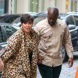Kris Jenner et son compagnon Corey Gamble arrivent à la soirée de lancement de la collection de parfums de Carine Roitfeld à New York le 4 mai 2019.