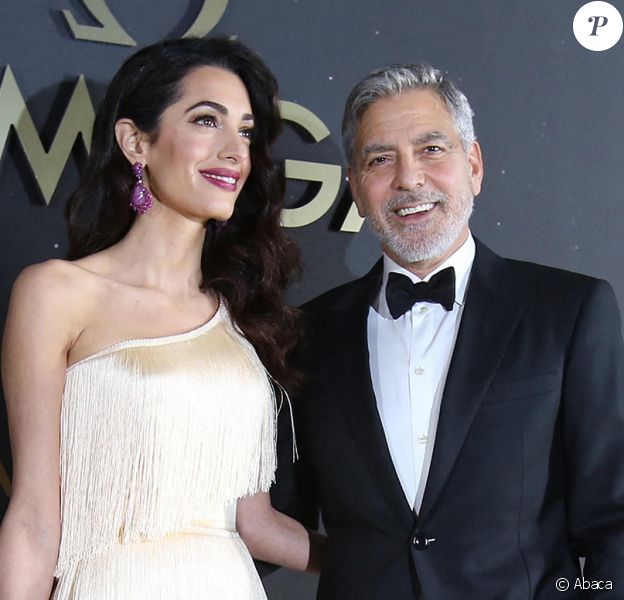 George et Amal Clooney à la soirée Omega, Kennedy Space Center en Floride, le 9 mai 2019.