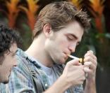 Robert Pattinson en plein tournage. 15/06/09