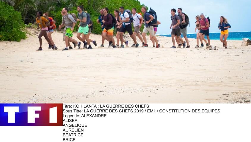 """Les candidats de """"Koh-Lanta, la guerre des chefs"""", sur TF1"""