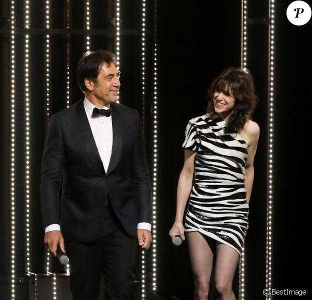 Javier Bardem et Charlotte Gainsbourg - Cérémonie d'ouverture du 72ème Festival International du Film de Cannes. Le 14 mai 2019 © Borde-Jacovides-Moreau / Bestimage