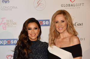 Eva Longoria, scintillante, retrouve Lara Fabian au Global Gift Initiative