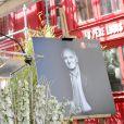 Eric Berchot, pianiste au dévoilement d'une plaque en hommage à Charles Aznavour. La mairie de Paris dévoile une plaque en l'honneur de Charles Aznavour au 36 rue Monsieur le Prince (6e), où l'artiste a grandi. Paris le 21 Mai 2019. Stéphane Lemouton / Bestimage
