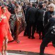 """Winnie Harlow arrive à la projection du film """"Once Upon a Time... in Hollywood"""" lors du 72ème Festival International du Film de Cannes, France, le 21 mai 2019. © Rachid Bellak/Bestimage"""