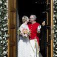 La princesse Alexandra de Sayn-Wittgenstein-Berleburg avec le comte danois Michael Preben Ahlefeldt-Laurvig-Bille - Mariage de la princesse Alexandra de Sayn-Wittgenstein-Berleburg avec le comte danois Michael Preben Ahlefeldt-Laurvig-Bille à Svendborg au Danemark le 18 mai 2019.